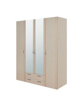 Шкаф 4-х дверный с зеркалом...